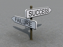 Success or Failure Roadsign